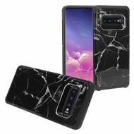 Hybrid Multi-Layer Armor Case for Samsung Galaxy S10 Plus - Marble Black