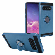 Sports Hybrid Armor Case with Smart Loop Ring Holder for Samsung Galaxy S10 Plus - Blue
