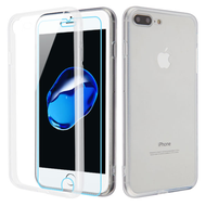 Reflex Hybrid Case with Front and Back Tempered Glass Protector for iPhone 8 / 7 - Clear