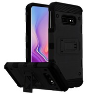 Military Grade Certified Storm Tank Hybrid Armor Case with Stand for Samsung Galaxy S10e - Black