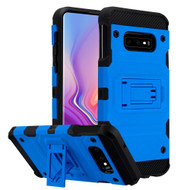 Military Grade Certified Storm Tank Hybrid Armor Case with Stand for Samsung Galaxy S10e - Blue