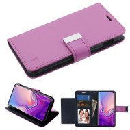 Essential Leather Wallet Stand Case for Samsung Galaxy S10e - Purple