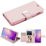 Essential Leather Wallet Stand Case for Samsung Galaxy S10e - Rose Gold