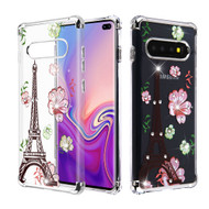 *Sale* Klarion Crystal Clear Diamond Tough Case for Samsung Galaxy S10e - Eiffel Tower