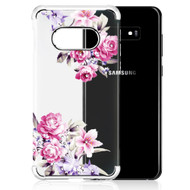 Klarion Crystal Clear Diamond Tough Case for Samsung Galaxy S10e - Romantic Love Flowers