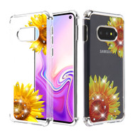 *Sale* Klarion Crystal Clear Diamond Tough Case for Samsung Galaxy S10e - Sunflower Field