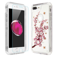 Military Grade Certified TUFF Lucid Plus Case + Tempered Glass for iPhone 8 Plus / 7 Plus / 6S Plus / 6 Plus - Spring Flower