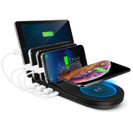 Naztech Wireless Power Hub 5 Charging Station - Black
