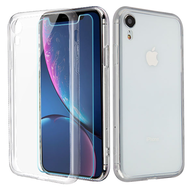 Reflex Hybrid Case with Front and Back Tempered Glass Protector for iPhone XR - Clear