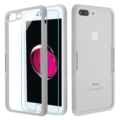 the latest 1907c 39f8a Reflex Hybrid Case with Front and Back Tempered Glass Protector for ...