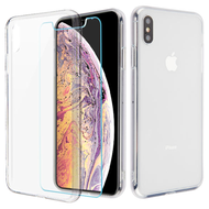 Reflex Hybrid Case with Front and Back Tempered Glass Protector for iPhone XS Max - Clear