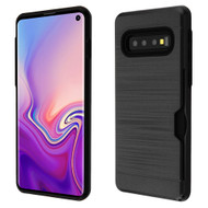Card To Go Hybrid Case for Samsung Galaxy S10 - Black