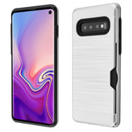 Card To Go Hybrid Case for Samsung Galaxy S10 - Silver