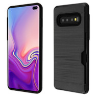 Card To Go Hybrid Case for Samsung Galaxy S10 Plus - Black