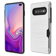 Card To Go Hybrid Case for Samsung Galaxy S10 Plus - Silver