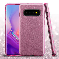Full Glitter Hybrid Protective Case for Samsung Galaxy S10 Plus - Pink