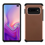 Hybrid Multi-Layer Armor Case for Samsung Galaxy S10 Plus - Rose Gold