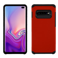 Hybrid Multi-Layer Armor Case for Samsung Galaxy S10 Plus - Red