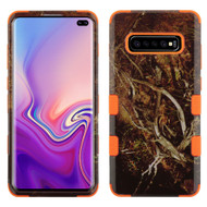 Military Grade Certified TUFF Hybrid Armor Case for Samsung Galaxy S10 Plus - Tree Camouflage Orange