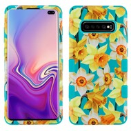 Military Grade Certified TUFF Hybrid Armor Case for Samsung Galaxy S10 Plus - Spring Daffodils
