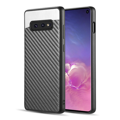 Carbon Metallic Luxury Fusion Case with Magnetic Back Plate for Samsung Galaxy S10e - Black