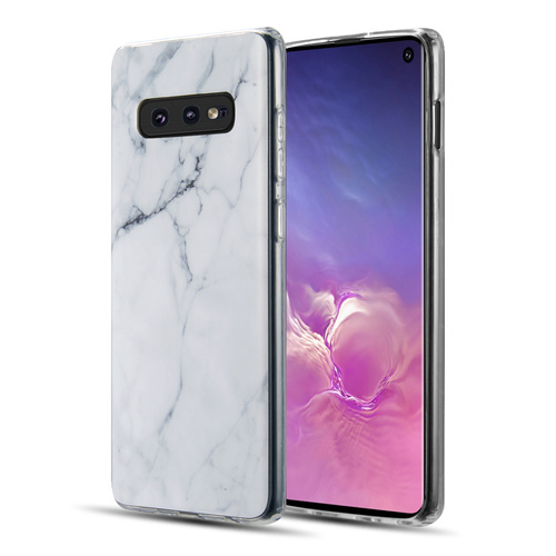 Marble TPU Case for Samsung Galaxy S10e - White
