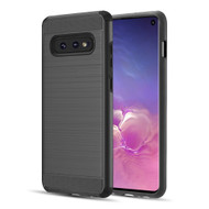 Brushed Texture Armor Anti Shock Hybrid Case for Samsung Galaxy S10e - Black