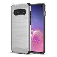 Brushed Texture Armor Anti Shock Hybrid Case for Samsung Galaxy S10e - Silver