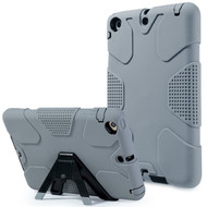 *SALE* Heavy Duty High Impact Resistant Shockproof Hybrid Armor Case with Stand for iPad Mini 1 / 2 / 3 - Grey