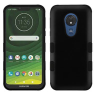 Military Grade Certified TUFF Hybrid Armor Case for Motorola Moto G7 Power - Black