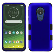 Military Grade Certified TUFF Hybrid Armor Case for Motorola Moto G7 Power - Blue
