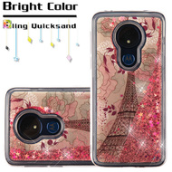 *Sale* Quicksand Glitter Transparent Case for Motorola Moto G7 Power / G7 Supra - Eiffel Tower
