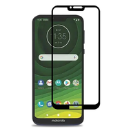 Premium Full Coverage 2.5D Tempered Glass Screen Protector for Motorola Moto G7 Power / G7 Supra - Black