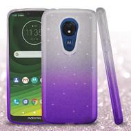 Full Glitter Hybrid Protective Case for Motorola Moto G7 Power - Gradient Purple