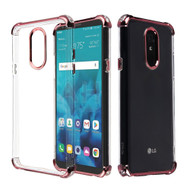 Klarion Crystal Clear Tough Case for LG Stylo 4 / Stylo 4 Plus - Rose Gold