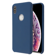 Liquid Silicone Protective Case for iPhone XS Max - Blue