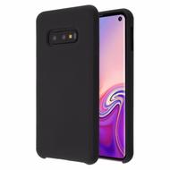 Liquid Silicone Protective Case for Samsung Galaxy S10e - Black