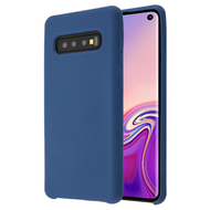Liquid Silicone Protective Case for Samsung Galaxy S10 - Blue