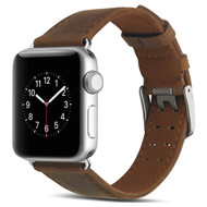 Genuine Patina Leather Strap Watch Band for Apple Watch 44mm / 42mm - Brown