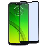 Full Coverage Premium 2.5D Round Edge HD Tempered Glass Screen Protector for Motorola Moto G7 Power - Black