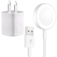 Magnetic Charging Cable and 5W USB Power Adapter for Apple Watch Series 1 / 2 / 3 / 4 - White