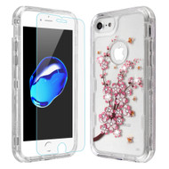 Military Grade Certified TUFF Lucid Plus Case with Tempered Glass Protector for iPhone 8 / 7 / 6S / 6 - Spring Flowers