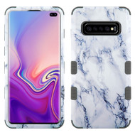Military Grade Certified TUFF Hybrid Armor Case for Samsung Galaxy S10 Plus - Marble White