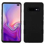 Military Grade Certified TUFF Hybrid Armor Case for Samsung Galaxy S10 Plus - Black 001