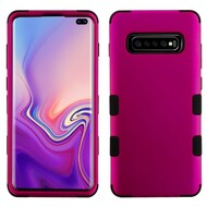 Military Grade Certified TUFF Hybrid Armor Case for Samsung Galaxy S10 Plus - Hot Pink