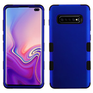 Military Grade Certified TUFF Hybrid Armor Case for Samsung Galaxy S10 Plus - Blue 005