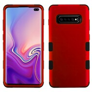 Military Grade Certified TUFF Hybrid Armor Case for Samsung Galaxy S10 Plus - Red 006
