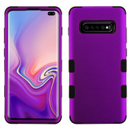 Military Grade Certified TUFF Hybrid Armor Case for Samsung Galaxy S10 Plus - Purple