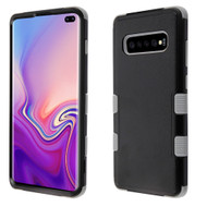 Military Grade Certified TUFF Hybrid Armor Case for Samsung Galaxy S10 Plus - Black Grey