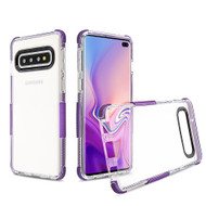 Transparent Protective Bumper Case for Samsung Galaxy S10 Plus - Purple
